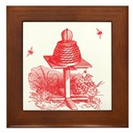 The Hive In Red Framed Tile