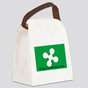 Lombardia Region Flag Canvas Lunch Bag