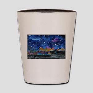 Starry Night in Dubai Shot Glass