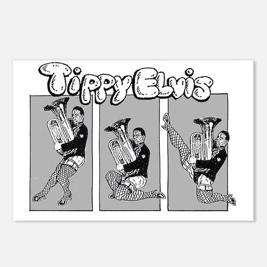 Tippy Elvis Tuba Postcards (Package of 8)