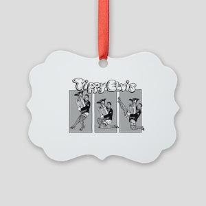 Tippy Elvis Tuba Picture Ornament