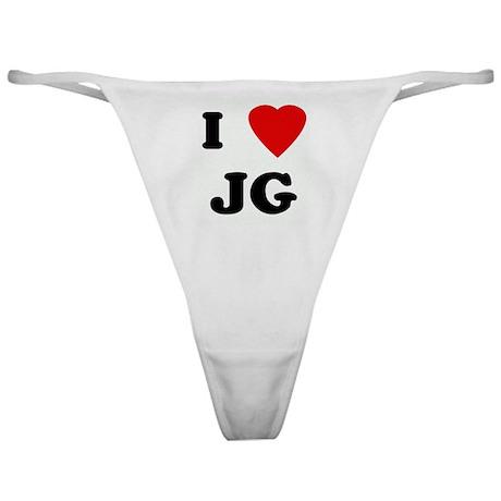 I Love JG Classic Thong