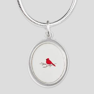 Cardinal Bird Branch Necklaces