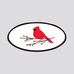 Cardinal Bird Branch Patches