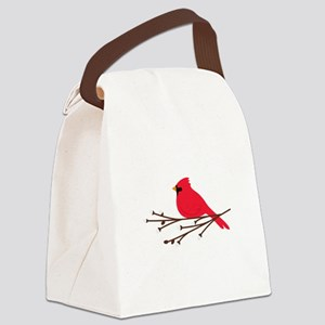 Cardinal Bird Branch Canvas Lunch Bag