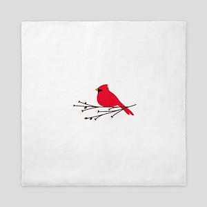 Cardinal Bird Branch Queen Duvet