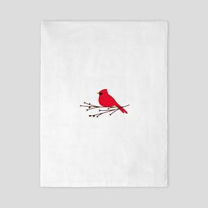Cardinal Bird Branch Twin Duvet