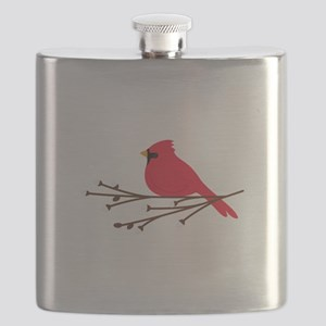 Cardinal Bird Branch Flask