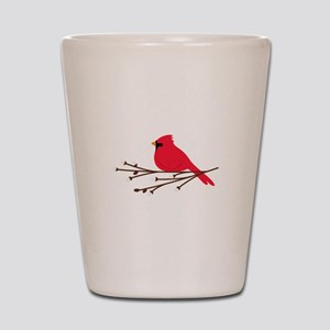 Cardinal Bird Branch Shot Glass