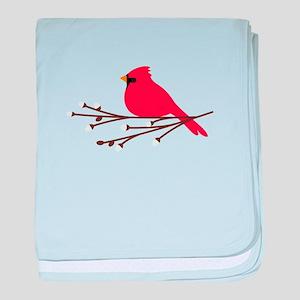 Cardinal Bird Branch baby blanket