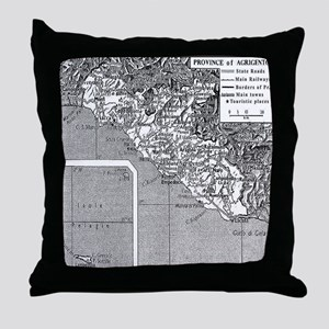Province of Agrigento Throw Pillow