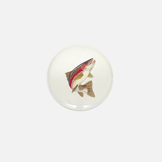 RAINBOW TROUT Mini Button