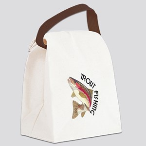 Trout Fishing Canvas Lunch Bag