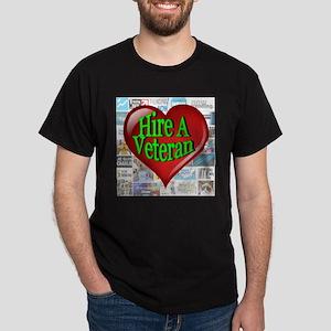 Trending Now Hire A Veteran Heart Dark T-Shirt