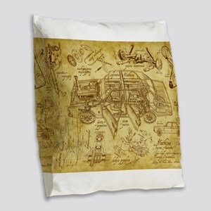 car 1775 Burlap Throw Pillow