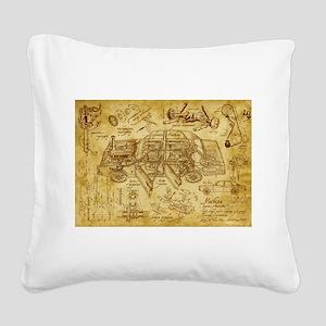 car 1775 Square Canvas Pillow