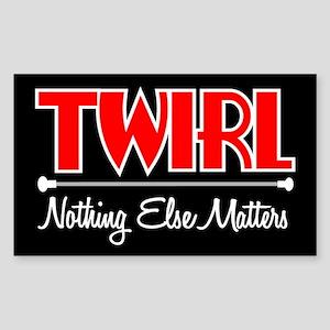 Twirl Rectangle Sticker