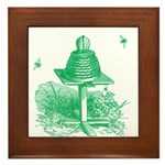 The Hive in Green Framed Tile