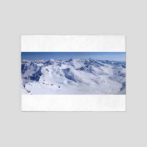 snow mountain 5'x7'Area Rug