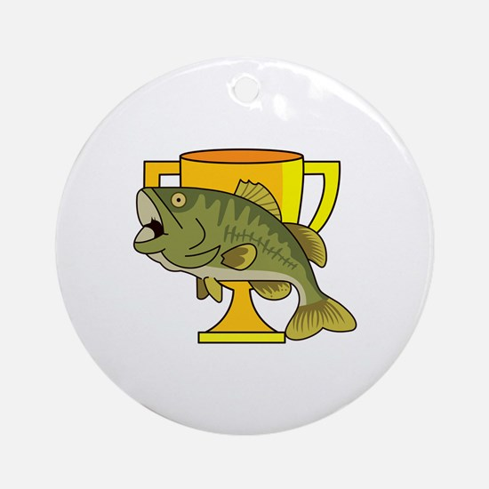 TROPHY BASS Ornament (Round)