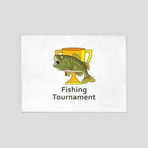 BASS TOURNAMENT FISHING 5'x7'Area Rug