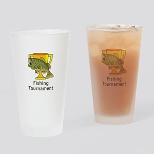BASS TOURNAMENT FISHING Drinking Glass