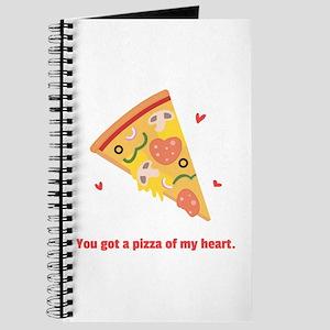 Yummy Pizza Heart Pun Humor Journal