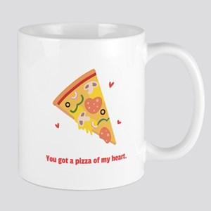 Yummy Pizza Heart Pun Humor Mugs