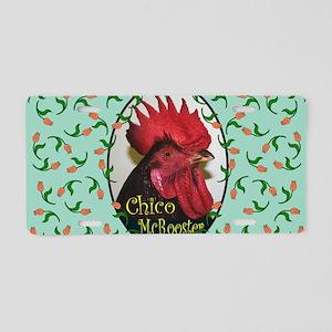 Chico Rect, turq Aluminum License Plate