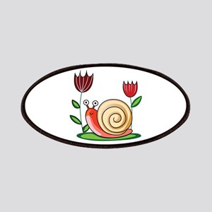 SNAIL AND FLOWERS Patches