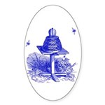 The Hive in Blue Oval Sticker