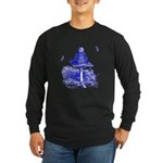 The Hive in Blue Long Sleeve Dark T-Shirt