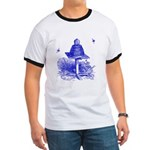 The Hive in Blue Ringer T