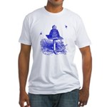 The Hive in Blue Fitted T-Shirt