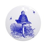 The Hive in Blue Ornament (Round)