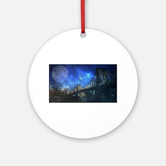 Queensboro bridge - NYC Ornament (Round)