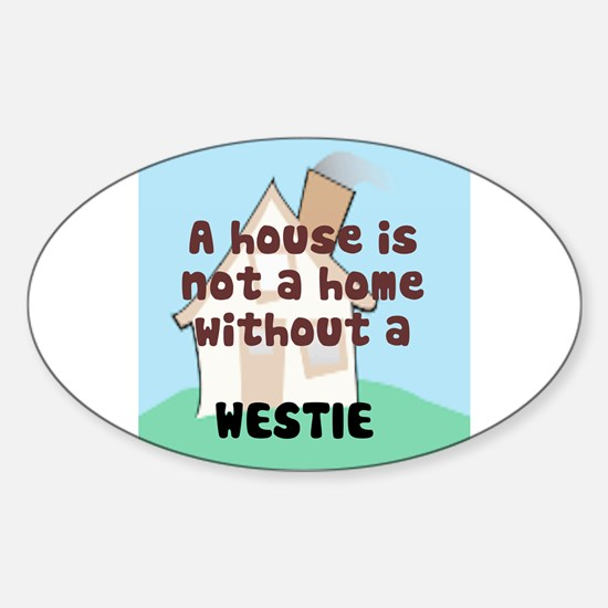 Westie Home Oval Decal