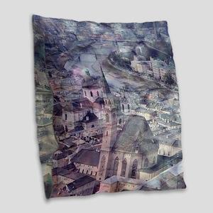 Salzburg,Vintage Look Burlap Throw Pillow