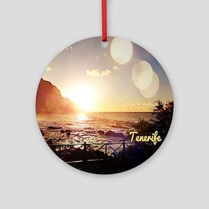 Tenerife Evening Lights Round Ornament