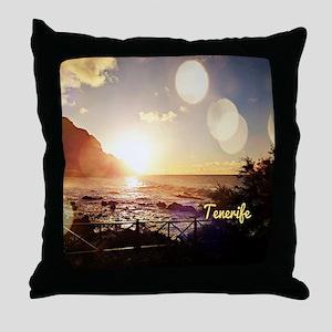 Tenerife Evening Lights Throw Pillow