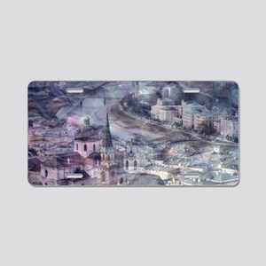 Salzburg,Vintage Look Aluminum License Plate