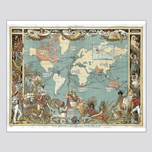 British Empire map 1886 Posters