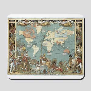 British Empire map 1886 Mousepad