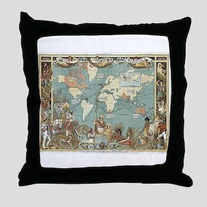 British Empire map 1886 Throw Pillow