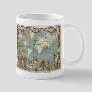 British Empire map 1886 Mugs