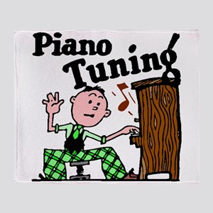 Piano Tuning Throw Blanket
