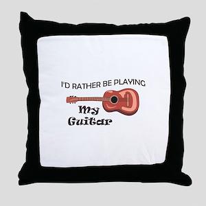 MY GUITAR Throw Pillow
