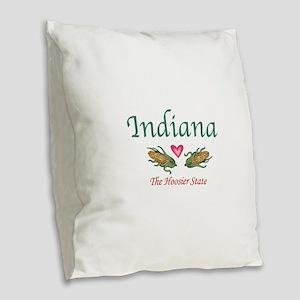 Indiana Burlap Throw Pillow