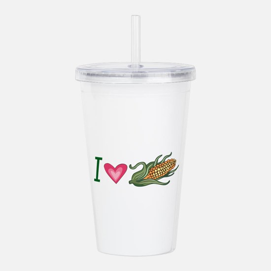 I LOVE CORN Acrylic Double-wall Tumbler