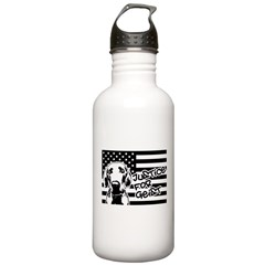 Justice For Geist American Flag Water Bottle